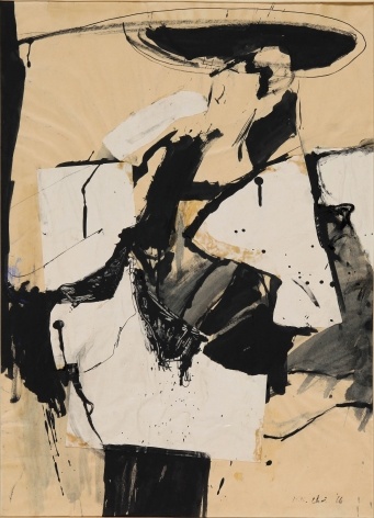 Untitled, 1966.Ink, acrylic and paper collage on paper.24.02 x 17.91 inches(61 x 45.5 cm)