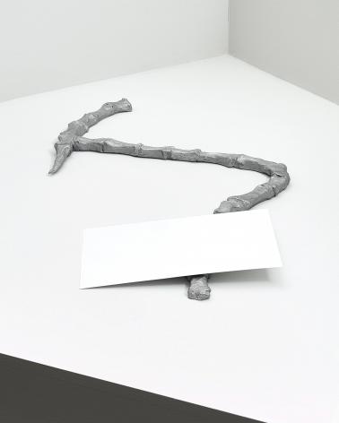 Bone and Walnut, 2016.Aluminum.Approximately 17.72 x 27.56 x 0.98inches (45 cm x 70 cm x 2.5 cm)