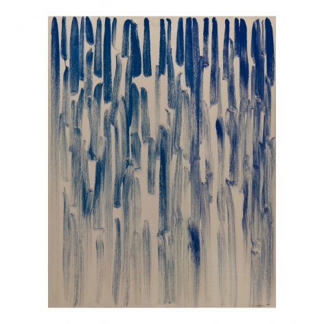 Lee Ufan,From Line, 1981. Oil and mineral pigment on canvas. 45.67 x 35.83 inches (116 x 91 cm).