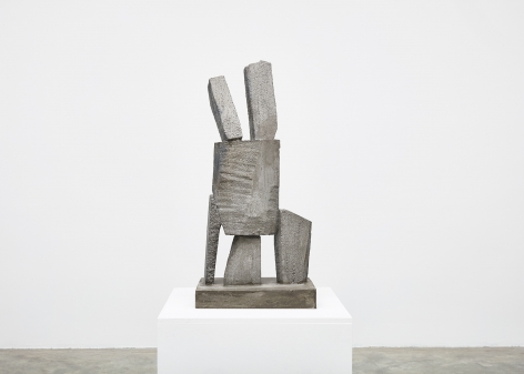 Gimhongsok (b. 1964), Resist - Ho, 2018, High-strength grout cement, Sculpture, 36.42 x 15.75 x 11.81 inches, 92.5 x 40 x 30 cm Edition 1/3, 2AP, Gimhongsok: Dwarf, Dust, Doubt at Tina Kim Gallery
