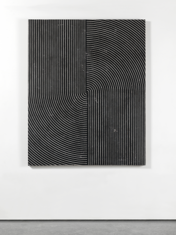 Untitled, 2016. Plaster, gesso & lacquer on wood. 120x 96inches (304.8x 243.8cm)