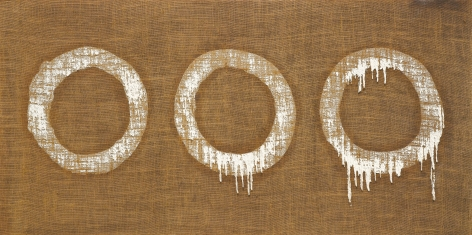 Conjunction 79-79 by Ha Chong-Hyun, 1979, Oil on hemp canvas, painting, Tina Kim Gallery