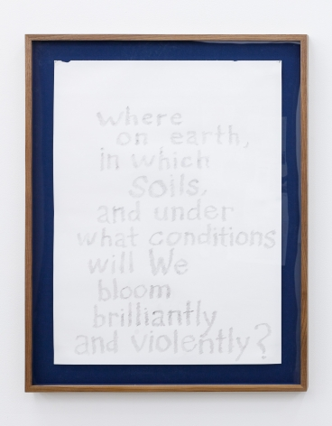 Group Show with Commonwealth and Council: EJ Hill, Column (study) (2018). Graphite on paper, frame, 28 x 22 x 1.5 inches (71.1 x 55.9 x 3.8 cm)