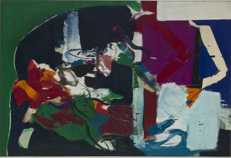 Wook-Kyung Choi, Untitled, c. 1960s. Acrylic on canvas. 25.2 x 36.61 inches (64 x 93 cm).