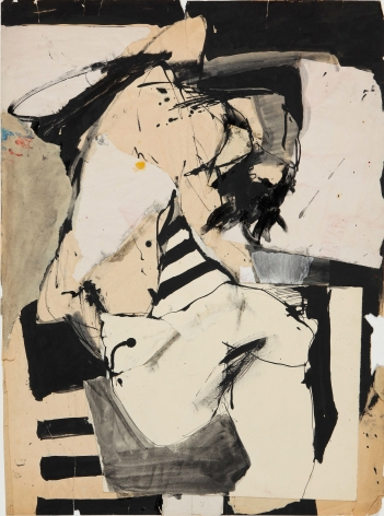 Untitled, c. 1960s. Ink, acrylic and paper collage on paper. 17.91 x 24.02 inches(45.5 x 61 cm)