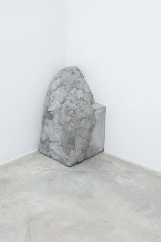 Corner Stone II,2011.Cement. 17.72 x 17.72 x 34.65 inches (45 x 45 x 88 cm)