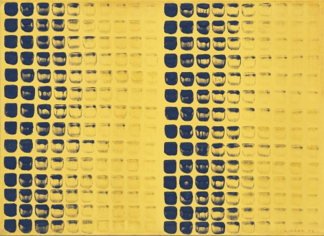 Lee Ufan,From Point (No. 78097), 1978. Oil on canvas (20.87 x 28.74 inches).
