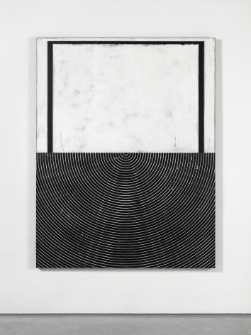 Untitled, 2016. Plaster, gesso & lacquer on wood. 72 x 56 inches (182.9 x 142.2 cm)