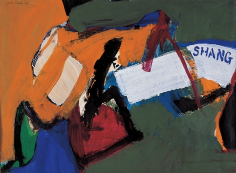 Shang,1966.Acrylic and paper mounted on canvas.16 3/4 x 22 1/2 inches(42.5 x 57 cm)