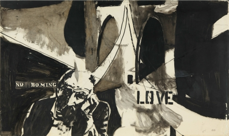 Love, c. 1960s. Ink on paper.31.5 x 52.95 inches(80 x 134.5 cm)