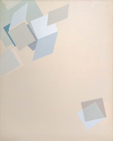 Suh Seung-Won, Simultaneity 81-116, 1981. Oil on canvas. 63.78 x 61.18 inches (162 x 130 cm).