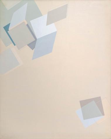 Suh Seung-Won,Simultaneity 81-116, 1981. Oil on canvas. 63.78 x 61.18 inches (162 x 130 cm).