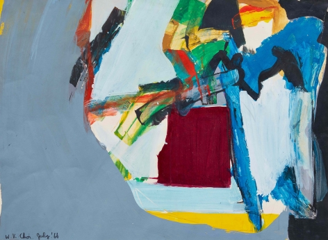 Untitled, 1966. Acrylic on paper. 16.73 x 22.83 inches (42.5 x 58 cm)