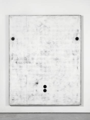 Untitled, 2016. Plaster, gesso & lacquer on wood. 80x 64inches (203.2x 162.6cm)