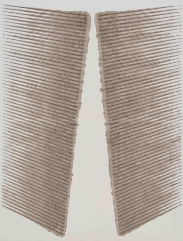 Kwon Young-Woo, Untitled, 1986. Gouache, Chinese Ink on Korean Paper. 88.19 x 66.93 inches (224 x 170 cm).