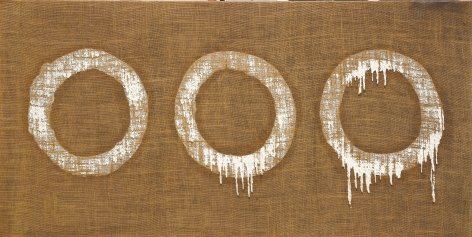 Conjunction 79-79 by Ha Chong-Hyun, 1979, Oil on hemp canvas, painting, Tina Kim Gallery
