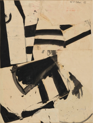Untitled, 1966.Ink and paper collage on paper.24.02 x 17.91 inches (61 x 45.5 cm)