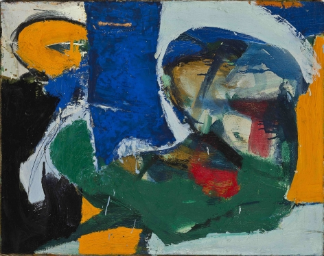 Untitled, c. 1960s. Oil on canvas. 18.11 x 22.83 inches (46 x 58 cm)
