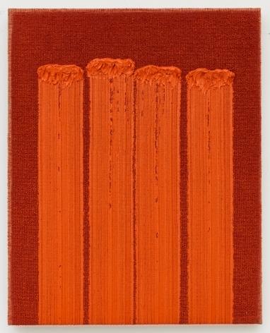 Ha Chong-Hyun (b. 1935) Conjunction 19-36, 2019 Oil on hemp cloth 35.83 x 28.74 inches 91 x 73 cm