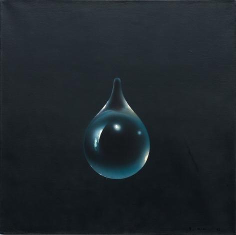 Kim Tschang-Yeul,Événement de la nuit, 1972. Oil on linen. 19.69 x 19.69 inches (50 x 50 cm).