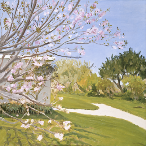 Cherry Blossoms Painted Outdoors