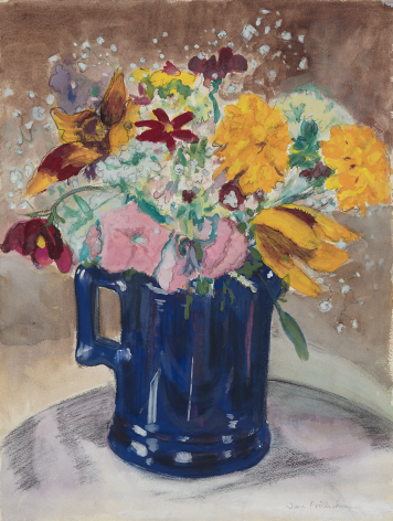 Still Life with Blue Pitcher