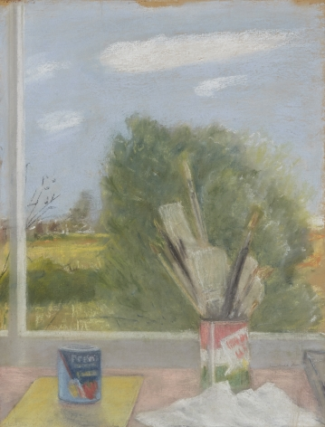 Untitled (Studio Table and Landscape)
