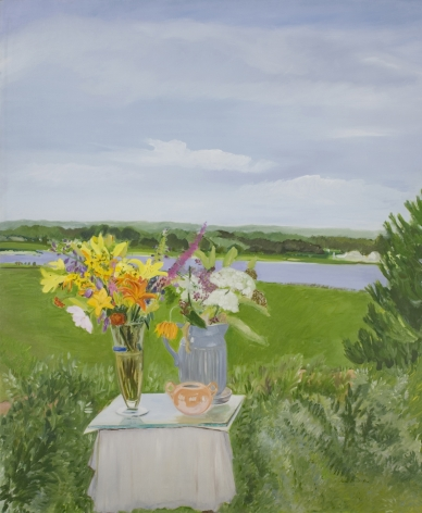 Lizzie's Flowers in a Landscape