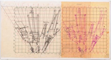 Working drawing for Desaparência (Estúdio) 2,1999