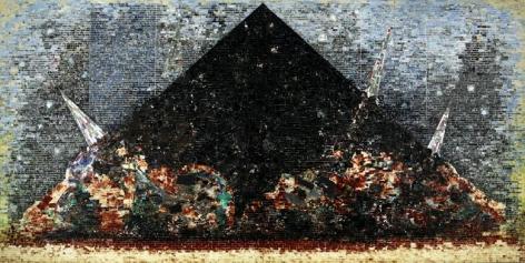 9–11–01 (2006) Acrylic and mixed media on canvas