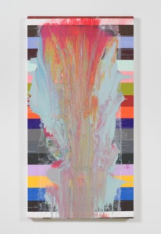 Drift II, 2017, Acrylic on printed canvas