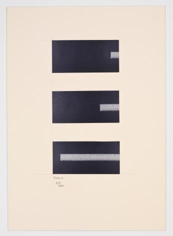 Ruler (1981) Photographs on paperboard