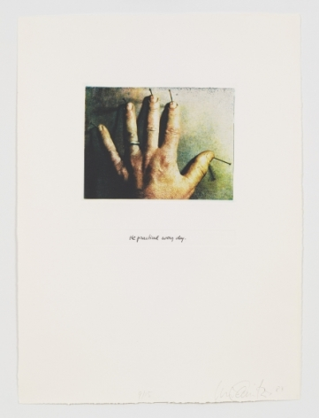 He practiced every dayfromUruguayan Torture Series,1983–84