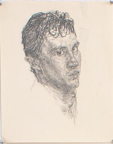 Self Portrait, 1977, Pencil on paper