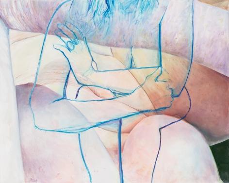 Blue Embrace, 2016, Oil on canvas