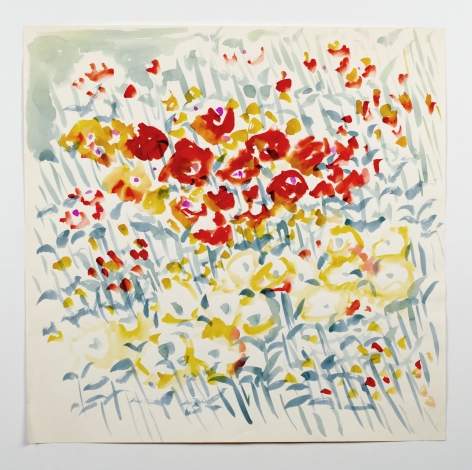 Untitled, from the Florals series, n.d., Watercolor on paper