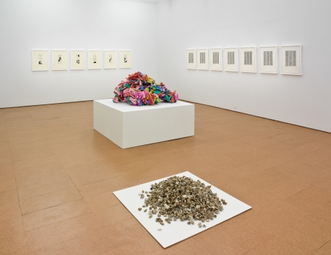 Hassan Sharif, Installation view, Alexander Gray Associates, 2012