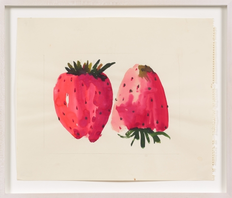 Untitled, from the Fruitsseries, n.d., Watercolor on paper