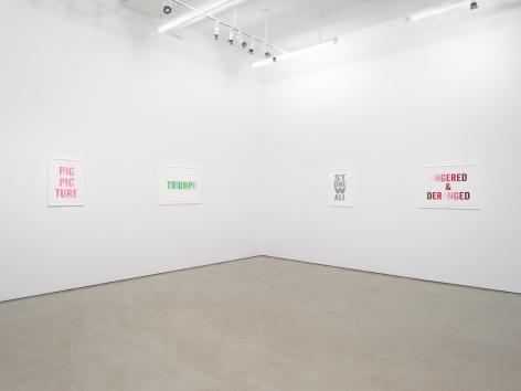 Kay Rosen: StirringWirds,installation view, Alexander Gray Associates (2018)