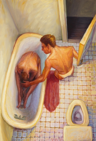 Door to Tub, 1993, Oil on canvas