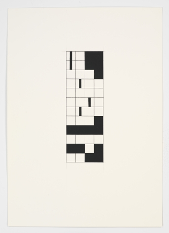 The Empty Square, 2010Part 3 of 6, Gouache on paper23.43h x 16.54w in (59.51h x 42.01w cm)