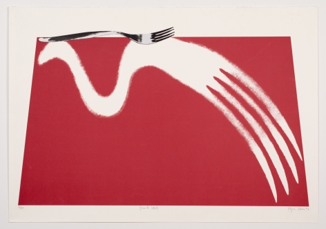 Simile (Red), 1997, Lithography & Serigraphy