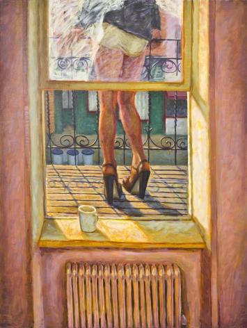 Morning Terrace, 1992, Oil On Canvas