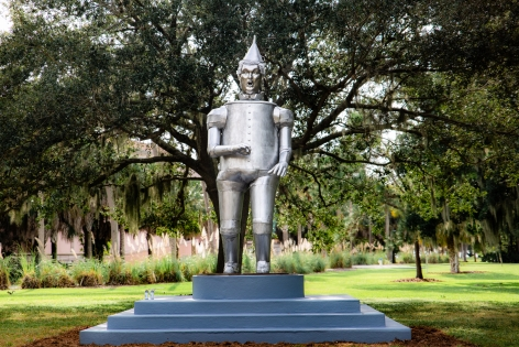 Tin Man of the Twenty-First Century, 2018, Aluminum and steel