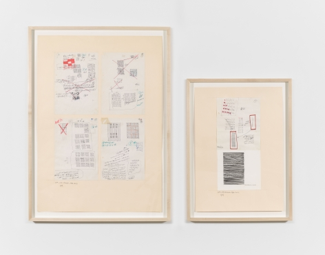 10th to 13th October No. 1 & No. 2, 1984, Ink, pencil and marker on paper