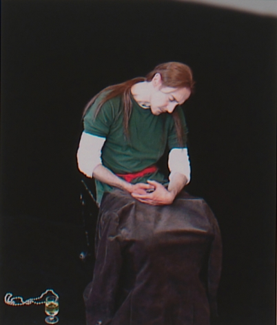 """Self Portrait after Caravaggio's """"Penitent Magdalene"""", 2007, Archival digital print on canvas, 19h x 13w in (48.26h x 33.02w cm)"""