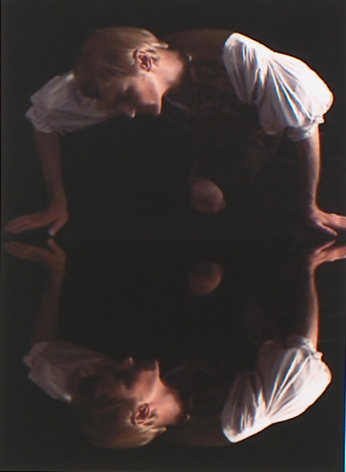 """Self Portrait after Caravaggio's """"Narcissus"""", 2007, Archival digital print on canvas, 19h x 13w in (48.26h x 33.02w cm)"""
