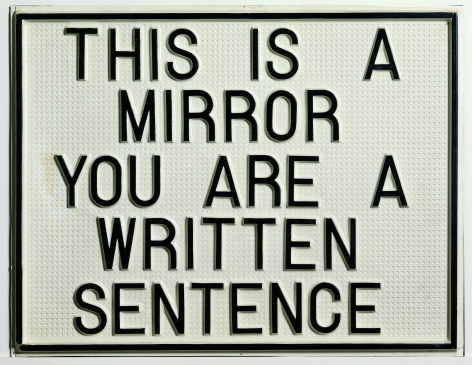 This Is a Mirror, You Are a Written Sentence (1966-1968)
