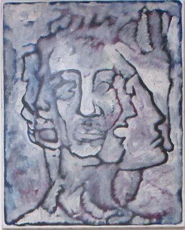 Self Portrait I, 1982, Acrylic on Canvas