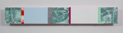 Ribbons of Honor #9, 2009, Acrylic collage on panel